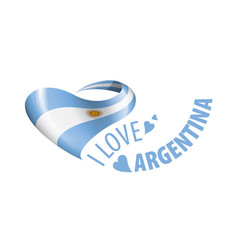 National flag argentina in shape vector
