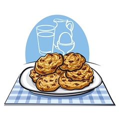 Oatmeals cookies vector