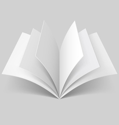 Open blank book vector