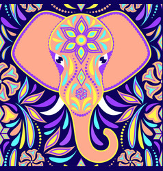 pattern with elephant vector image