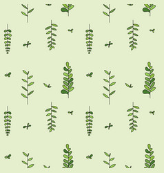 pattern with plant twigs vector image