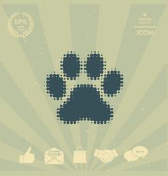paw - halftone logo vector image