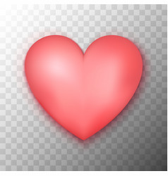 pink heart transparent background vector image