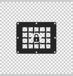 Prison window icon on transparent background vector
