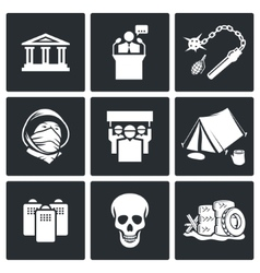 Protest icon set vector