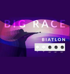 realistic biathlon sport composition vector image