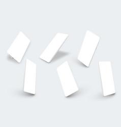 realistic smartphone mockup smartphone blank vector image