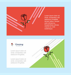 rose abstract corporate business banner template vector image