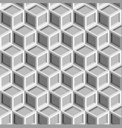seamless repeating isometric grey cube pattern vector image