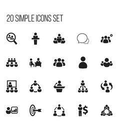 Set of 20 editable community icons includes vector
