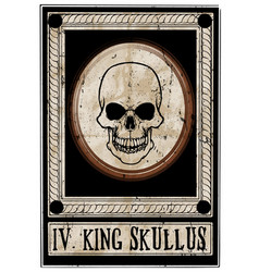 skull graphic poster vector image