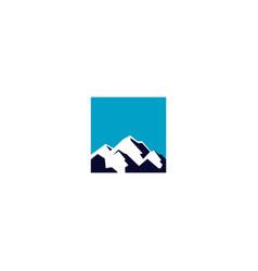 square-blue-mountain-logo vector image