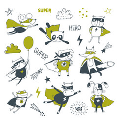 superheroes cartoon vector image