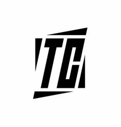 Tc logo monogram with modern style concept design vector
