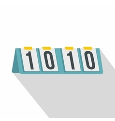 Tennis scoreboard icon flat style vector