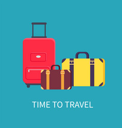 time to travel poster headline vector image