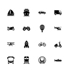 transport - flat icons vector image