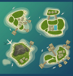 tropical islands top view travel and tourism sign vector image