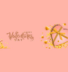 valentines day banner background design of vector image