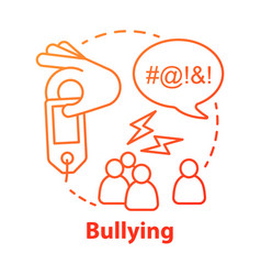 Verbal and social bullying concept icon vector