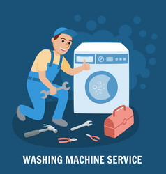 Washing machine service vector