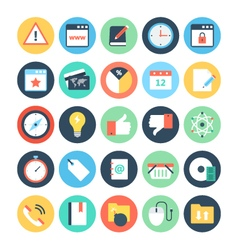 Web and Networking Flat Icons 4 vector