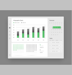web app dashboard ui and ux kit infographic tools vector image