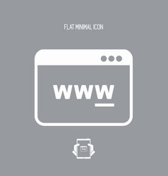 web browser panel icon vector image