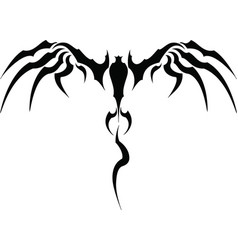 wings of the devil vector image