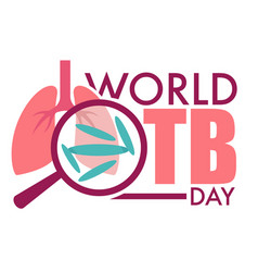 world tuberculosis day isolated icon infected vector image