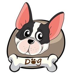 A face of a cute dog vector image vector image