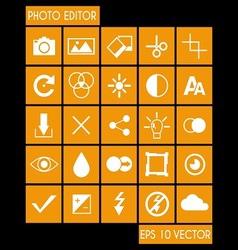 Photo Editor Icon Set vector image vector image
