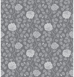 Seamless background with flowers and leaves vector image vector image