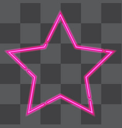 Shining retro neon star vector
