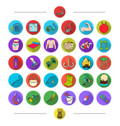 sports training diet and other web icon in vector image