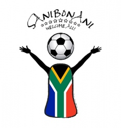 welcome soccer world cup poster vector image