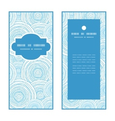 doodle circle water texture vertical frame pattern vector image vector image