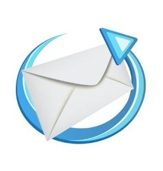 envelope with a blue arrow vector image vector image