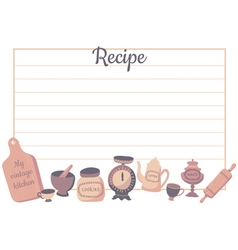 Recipe card vector