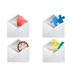 Signs in envelope vector image vector image