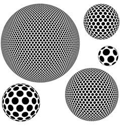 Dotted Sphere vector image vector image