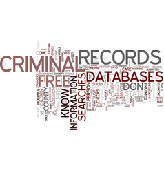 free criminal records searches for every vector image