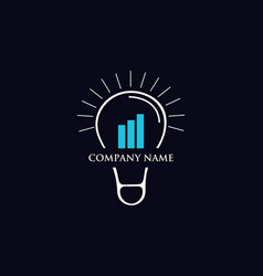 idea finance growth logo vector image