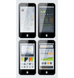 smartphone infographics vector image vector image