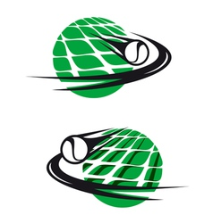 Tennis sports elements vector image
