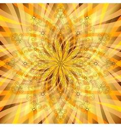 Vintage orange-gold pattern vector image