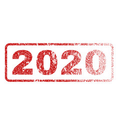 2020 rubber stamp vector