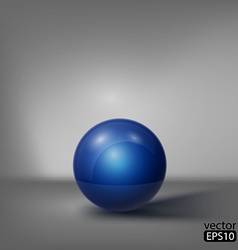 3d blue ball vector image