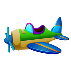 A aeroplane on white background vector