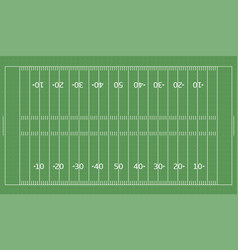 american football green field vector image